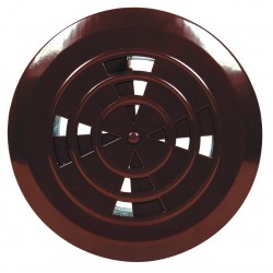 Kratka wentylacyjna regulowana fi 110 brązowa