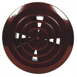 Kratka wentylacyjna regulowana fi 125 brązowa