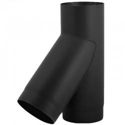 Trójnik 45° czarny 2 mm fi 180