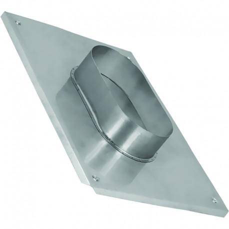 Płyta kominowa owalna kwasoodporna 130x230