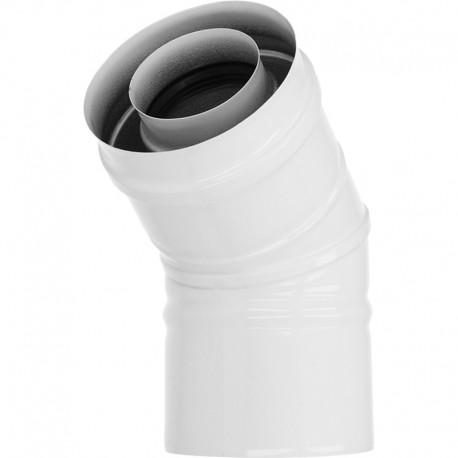 Kolano 45° kwasoodporne 80/125 białe