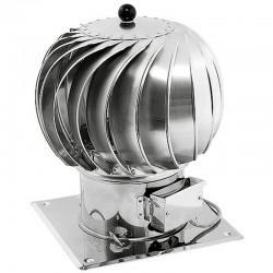 Turbowent hybrydowy aluminiowy fi 150 z podstawą